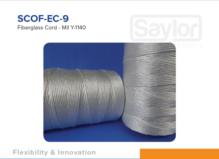 SCOF-EC-9 Fiberglass Cord - Mil Y-1140 Available in Right IC
